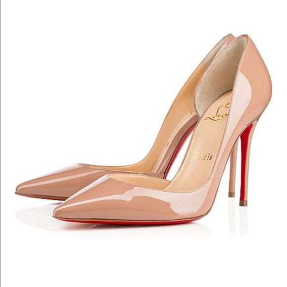 da615723a29 Louboutin Iriza 100 Nude Patent Leather Pump 41